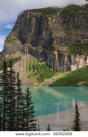 Western Shore Of Lake Louise