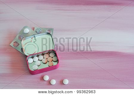 Contraceptive Pills Box