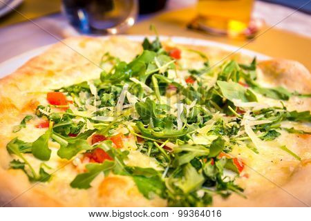 Italian Pizza With Rucola