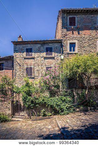 Old Cortona Town In Tuscany