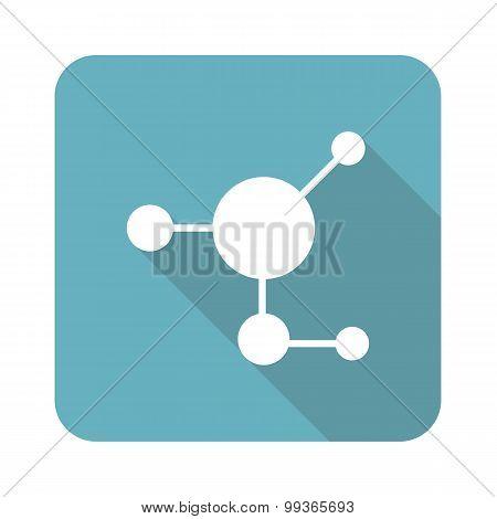 Molecule icon, square