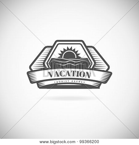 Vacation Travel Logo element template