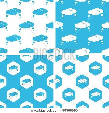 Thought bubbles patterns set