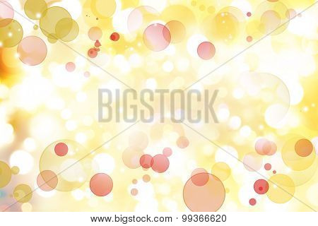 Red circles on yellow abstract background