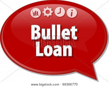 Blank business strategy concept infographic diagram illustration Bullet Loan