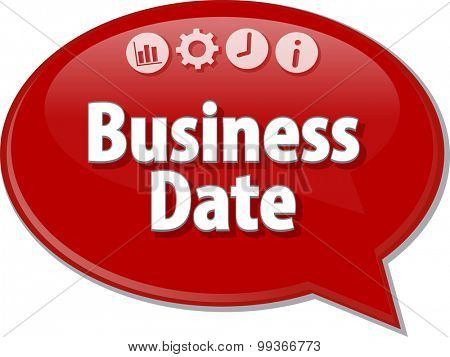 Blank business strategy concept infographic diagram illustration Business Date