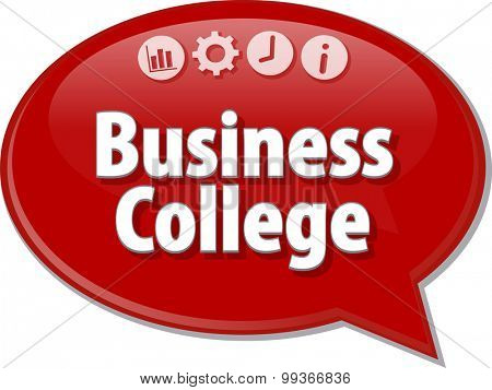 Business strategy concept infographic diagram illustration of Business College