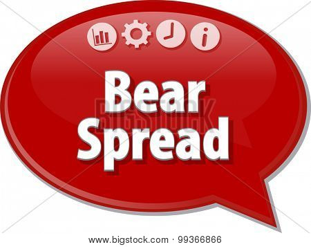 Blank business strategy concept infographic diagram illustration Bear Spread