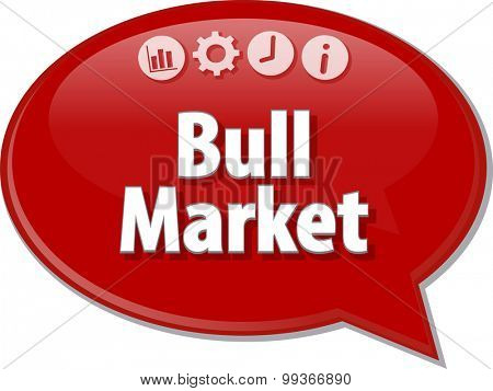 Blank business strategy concept infographic diagram illustration Bull Market