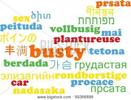 Background concept wordcloud multilanguage international many language illustration of busty