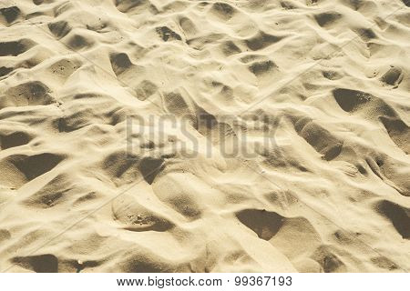 sand on beach as background. soft focus