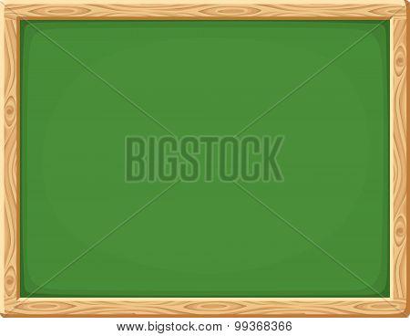 Green chalkboard. Vector illustration.