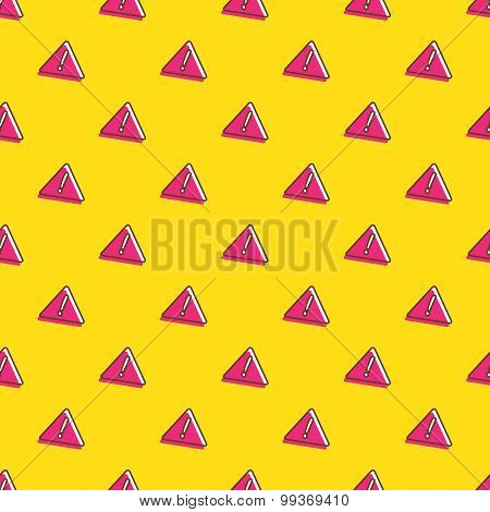 Vector attention signs seamless pattern. Exclamation background in cartoon style