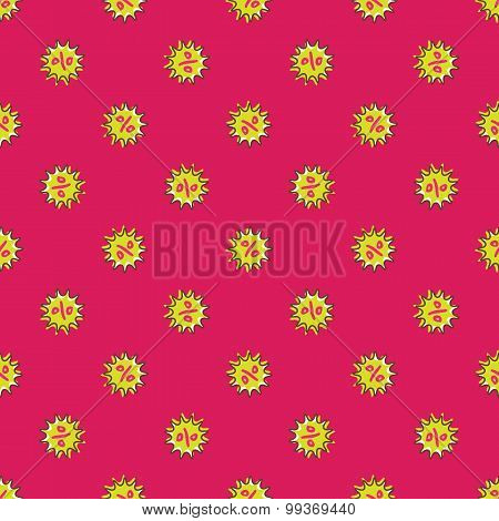 Vector percentage signs seamless pattern. Sale background in cartoon style