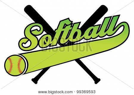 Softball With Banner and Ball