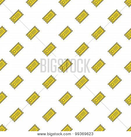 Vector yellow cinema tickets seamless pattern