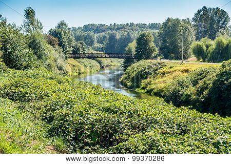 Walking Bridge Over Green River
