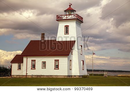 Wood Island Lighthouse  located in eastern Prince Edward Island, Canada.