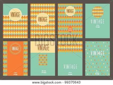 Set of creative vintage cards. Best creative hand made design for poster, placard, brochure, flyer,