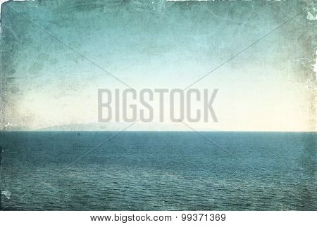 Grunge background with sea and sky view