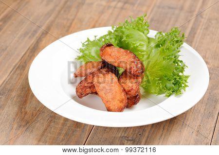 Thai Food Fry Fish Sausage