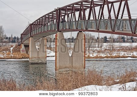 Trestle Pedestrian Bridge in the Winter