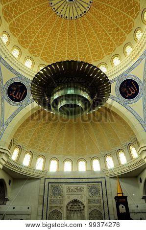 Interior of Federal Territory Mosque a.k.a Masjid Wilayah Persekutuan