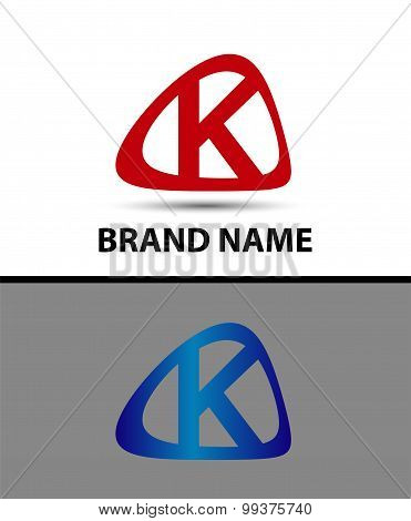 Letter K logo icon design template elements - vector sign
