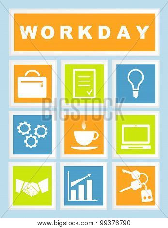 Set 9 Workday Icons