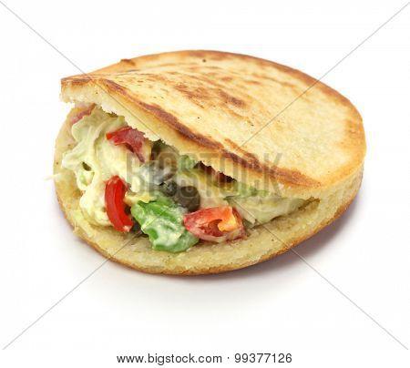 arepas, venezuelan colombian corn bread sandwich