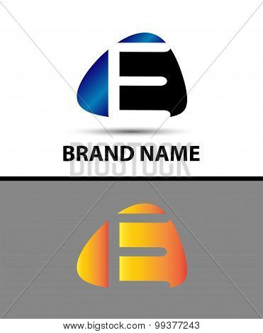 Abstract Letter e Icon