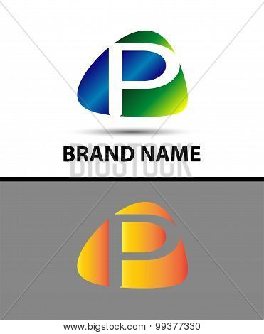Abstract letter p logo
