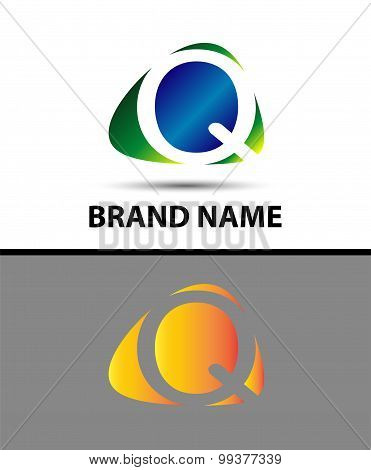 Abstract letter q logo