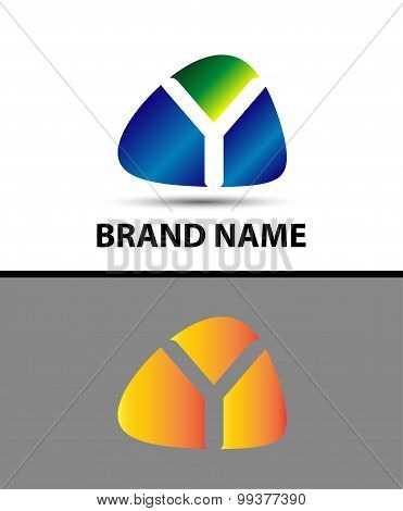 Abstract letter y logo