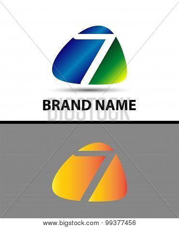 Vector logo 7 type design.