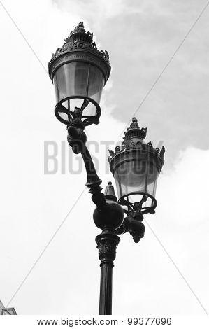 old-fashioned street lantern