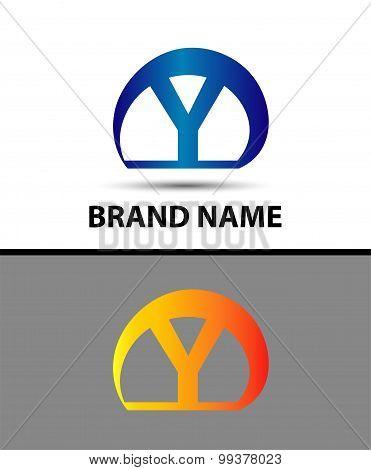 Alphabetical Logo Design Concepts. Letter Y