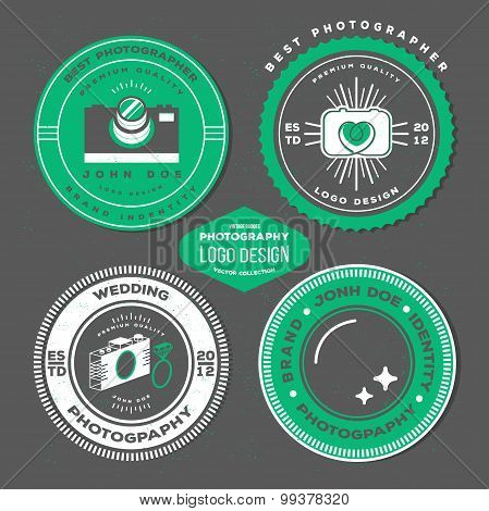 Vector hipster collection of photography logo