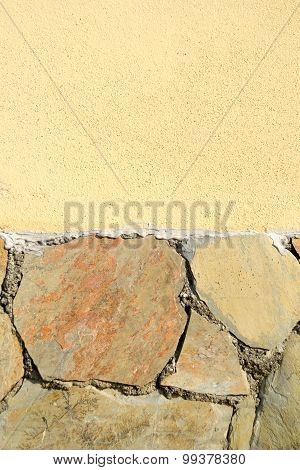 Background of old stone and cocrete wall