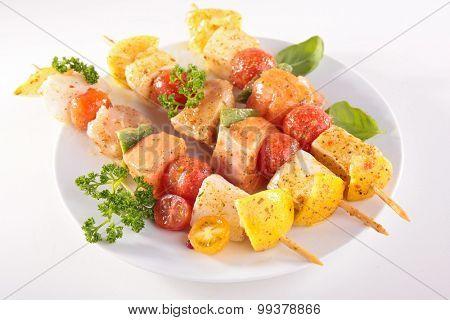raw fish kebab