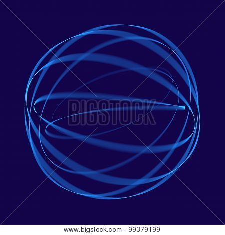Abstract blue background. Geometric pattern in blue colors. Digital art.