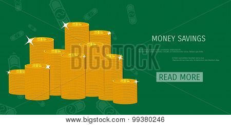 Vector money savings concept