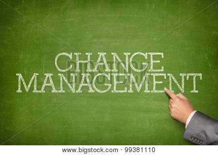 Change management text on blackboard