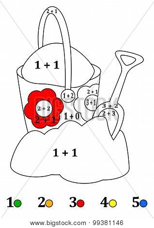Counting With Colors For Children - A Bucket, Shovel, Sand