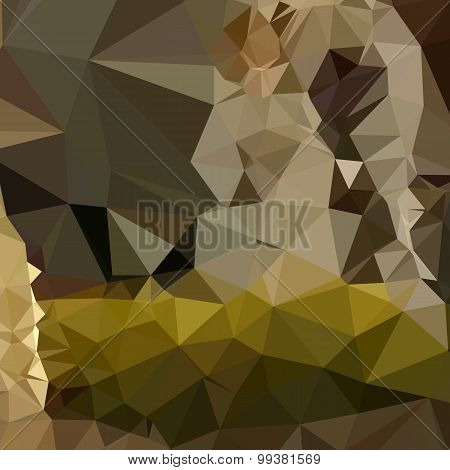 Medium Jungle Green Abstract Low Polygon Background