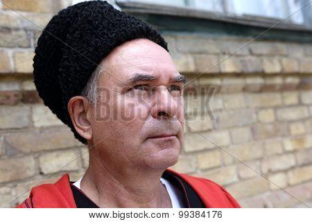 Face Of A Serious Kuban Cossack
