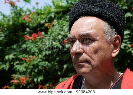 Portrait Of A Senior Kuban Cossack