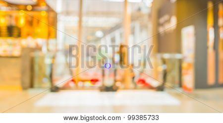 Image Of Escalators At The Modern Shopping Mall.