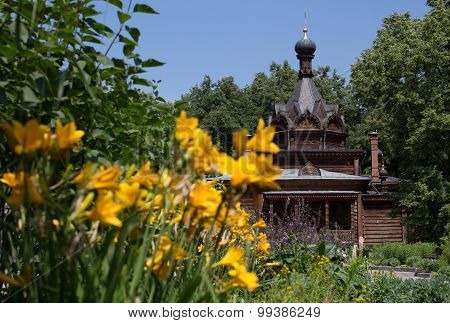 Russian wooden orthodox church