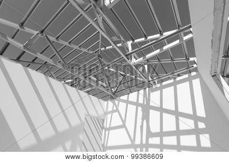 Steel Roof Black And White
